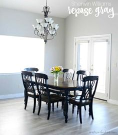The Table May Be Focal Point In This Dining Room But Tone Of Paint ColorsInterior
