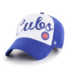 d7a81adcd11587 Chicago Cubs Women's Sparkle Script Clean Up Adjustable Hat by '47 # ChicagoCubs #Cubs