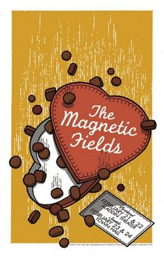 magnetic fields band   The Magnetic Fields Concert Poster By Mike King