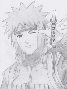 Minato Namikaze by Antylopa Anime Naruto, Minato Y Naruto, Naruto Uzumaki Shippuden, Naruto Art, Manga Anime, Boruto, Naruto Sketch Drawing, Anime Drawings Sketches, Anime Sketch