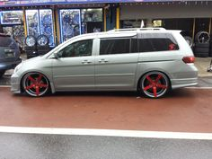 @Trizent1 from Vankulture Honda Odyssey, Odyssey Van, Honda Van, Vinyl Wrap Car, Mini Vans, Chrysler Voyager, Japanese Imports, Red Wagon, Tablet Holder