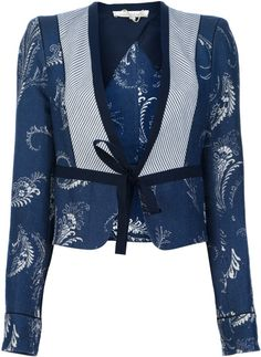 Vanessa Bruno Printed Jacket in Blue - Lyst