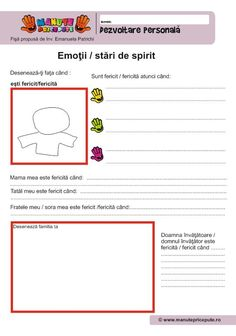 004 - Fise de lucru  - Dezvoltare personala - Ce este fericirea Summer School Activities, Worksheets For Kids, After School, Therapy, Perception, Parenting, Classroom, Teacher, Album