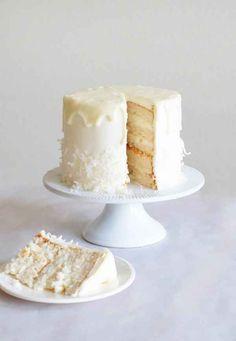 Coconut Almond White Chocolate Cake