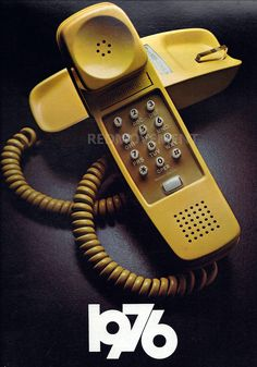 Yellow vintage Slimline phone