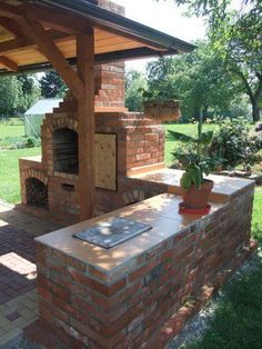 """DIY Outdoor Fireplace With BBQ Grill /brick/ - DIY Outdoor Fireplace With BBQ Grill /brick/ : {""""context"""":{""""location"""":{},""""footer-robot"""" - Outdoor Grill Area, Outdoor Stove, Outdoor Kitchen Design, Outdoor Grilling, Grilling Tips, Outdoor Bbq Grills, Bbq Area, Outdoor Kitchens, Diy Outdoor Fireplace"""