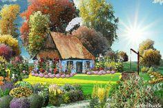 Malwy przy chatce - GardenPuzzle - projektowanie ogrodów w przeglądarce