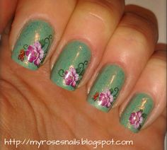 Floral water stickers