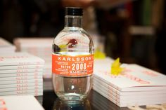 Karlsson's Vodka. love the shape of the bottle and that great label. via sightunseen.com