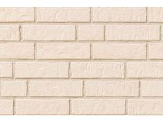 Klinkerriemchen / Klinker Riemchen R1011-NF / Klinker / Fassade / Muster / Tafel / cremeweiss