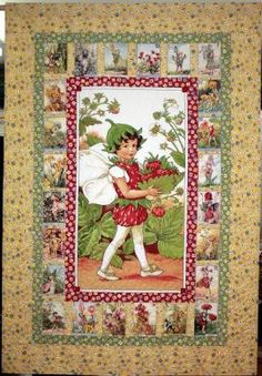 Quilt for the bed with the apple blossom fairy block in the center instead. Fairy Alphabet free quilt pattern - pdf
