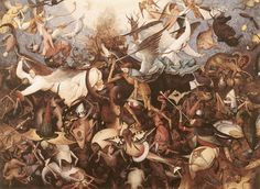 Pieter Bruegel le Vieux : La chute des anges rebelles 1562, 117x162 cm