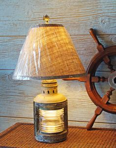 early 20th century brass port starboard navigational running