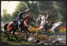 The Duel Acrylic Print by Dan Nance Confederate States Of America, Confederate Flag, American Civil War, American History, Art Of Dan, Civil War Art, Civil War Photos, Thing 1, Historical Art