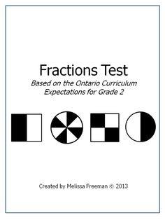 Grade 2 Math Tests Bundle (Based on Ontario Curriculum
