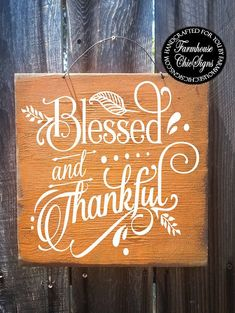 blessed thankful blessed and thankful fall decor Fall Wood Signs, Distressed Wood Signs, Fall Signs, Fall Craft Fairs, Fall Crafts, Thanksgiving Signs, Thanksgiving Decorations, Seasonal Decor, Holiday Signs
