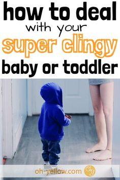 Clingy baby or toddler? How to handle separation anxiety from mom, so you can get stuff done! What to do with a clingy baby who doesn't want to be put down. Clingy Baby, After Baby, Baby Arrival, Pregnant Mom, Getting Things Done, Baby Sleep, Parenting Advice, Infants, Health