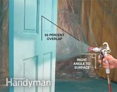 Painting with an airless sprayer is the best way to complete big paint jobs fast or apply a glass-smooth finish. This article shows you how to do it.