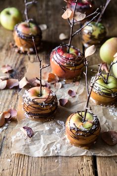 Low Carb Recipes To The Prism Weight Reduction Program Sweet And Salty Chocolate Drizzled Cider Caramel Apples Fall Recipes, Holiday Recipes, Snickers Cake, Homemade Apple Cider, Mood Of The Day, Cupcakes, Cupcake Cupcake, Most Delicious Recipe, Half Baked Harvest