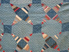 ANTIQUE 19th C PRIMITIVE QUILT AMERICANA INDIGO BLUE EARLY HOMESPUN FABRIC STAR, eBay, vintage*at*heart