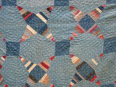 ANTIQUE 19th C PRIMITIVE QUILT AMERICANA INDIGO BLUE EARLY HOMESPUN FABRIC STAR, eBay, vintage*at*heart