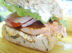 Cajun Salmon Sandwich With Goat Cheese And Lemon Mayonnaise Recipe - Food.com