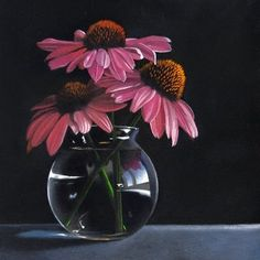 "Daily Paintworks - ""Echanecia 6x6"" - Original Fine Art for Sale - © M Collier"
