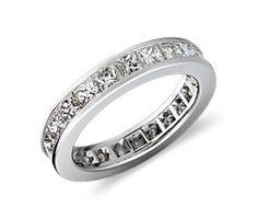 Princess Cut Diamond Eternity Ring in Platinum (3 ct. tw.)  #bluenile