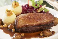 Savory Honey Lacquered Duck Breast with Chopped Nuts
