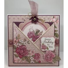 The Hobby House English Rose Collection (UK delivery only) - The Hobby House from The Hobby House UK Fancy Fold Cards, Folded Cards, Handmade Birthday Cards, Greeting Cards Handmade, Scrapbooking Vintage, Hobby House, Mothers Day Cards, Pretty Cards, Card Sketches