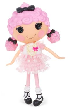 Lalaloopsy Doll- Cherie Prim 'N' Proper Lalaloopsy large doll Cherie Prim 'N' Proper was sewn from a poodle skirt Adorable doll is 13 inches tall Articulated head, arms and legs Shoes and clothes can be removed for fashion play Doll stands 13 inches tall Clipart, Feminine Names, Sock Hop, Up Game, Child Doll, Games For Girls, Dog Walking, Doll Toys, Poodle