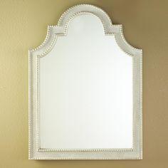 Gray Linen Texture Mirror - Shades of Light