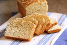 Barefeet In The Kitchen: Honey and Oat Gluten Free Bread- Yes! I made this tonight and it actually sliced well, tasted light and yummy and didn't have a dozen hard to find, expensive ingredients!