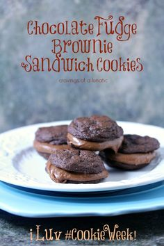 Chocolate Fudge Brownie Sandwich Cookies | Cravings of a Lunatic | Seriously scrumptious cookies that will impress your friends!