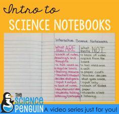 Intro to Interactive Science Notebooks: What they are, that they aren't, what to include, and ideas