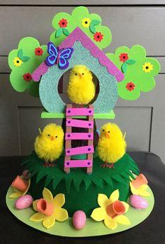 Easter Bonnet — Nesting Place (677x1000) Boys Easter Hat, Easter Hat Parade, Easter Bunny, Easter Bonnets, Crazy Hat Day, Easter Garden, Diy Ostern, Easter Celebration, Easter Party