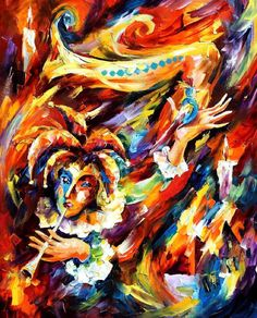 CLOWN AND CANARY - PALETTE KNIFE Oil Painting On Canvas By Leonid Afremov - http://afremov.com/CLOWN-AND-CANARY-PALETTE-KNIFE-Oil-Painting-On-Canvas-By-Leonid-Afremov-Size-24-x30.html?utm_source=s-pinterest&utm_medium=/afremov_usa&utm_campaign=ADD-YOUR