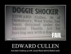Well what do you know..Edward Cullen -  One Stop Humour