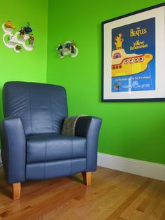 """Yellow Submarine"" Beatles-inspired nursery with custom bedding from #carouseldesigns"