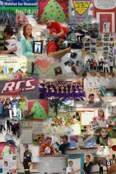 progress collages to showcase student work
