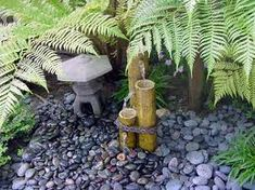 Coming up with backyard landscape ideas is not always easy. Did you spend weeks picking out the current color for your house and landscaping your front yard, Tropical Backyard, Tropical Landscaping, Backyard Landscaping, Backyard Ideas, Garden Ideas, Landscape Design, Garden Design, Mexican Beach Pebbles, Bamboo Fountain