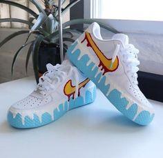 Cute Nike Shoes, Cute Sneakers, Nike Shoes Air Force, Shoes Sneakers, Nike Custom Shoes, Custom Jordans, Sneakers Design, Shoes Uk, Adidas Shoes