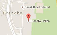 Kort over Brøndby Hallen