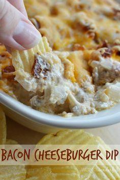Bacon Cheeseburger Dip Recipe with Kraft Cheese