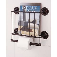Estate Oil Rubbed Bronze Finish Magazine Rack/ Toilet Paper Holder - Overstock Shopping - Great Deals on Organize It All Bathroom Hardware