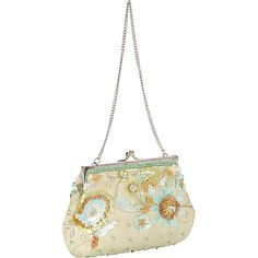 Moyna Handbags Beaded Evening Clutch Seafoam - Moyna Handbags Evening Bags