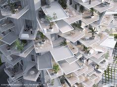 TOUR MIXTE A MONTPELLIER , FRANCE Sou Fujimoto + NL*A + OXO Architects + RSI