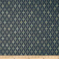 Robert Allen Promo Upholstery Eco Time Ink from @fabricdotcom  Refresh and modernize an old piece of furniture and update it with a new look. This upholstery heavyweight fabric is appropriate for accent pillows, upholstering furniture, headboards, ottomans and high traffic performance needs such as office or industry upholstery. It features a coated backing for extra durability. Colors include blue, teal and gold. This fabric features 100,000 double rubs.