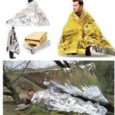 outdoor survival emergency blanket rescue first aid waterproof  – Fastlanerz