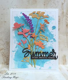 Hearts, Hugs and Flowers with a Tim Holtz card; Tim Holtz Dies, Tim Holtz Stamps, Watercolor Cards, Watercolor Flowers, Watercolor Portraits, Watercolor Landscape, Watercolor Painting, Paper Cards, Creative Cards